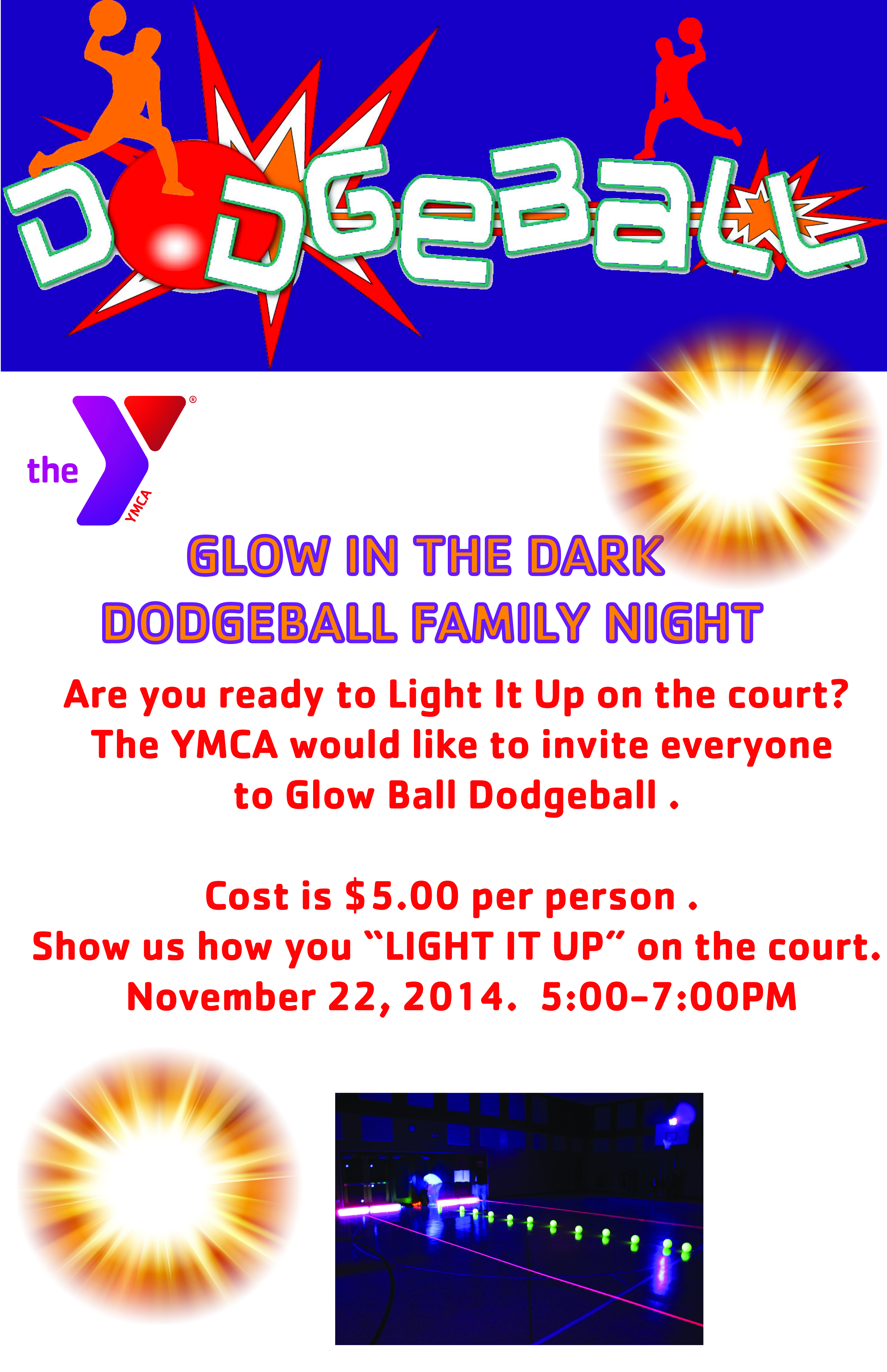 Glow in the Dark Dodgeball Family Night - Ottawa Illinois ...
